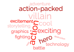 Avengers Infinity War tag cloud