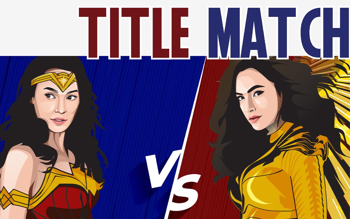 Title Match Wonder Woman vs. WW 1984